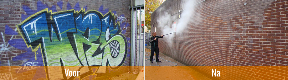 Graffiti reiniging